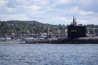 美戰略核潛艇跨越大西洋抵達蘇格蘭訪問