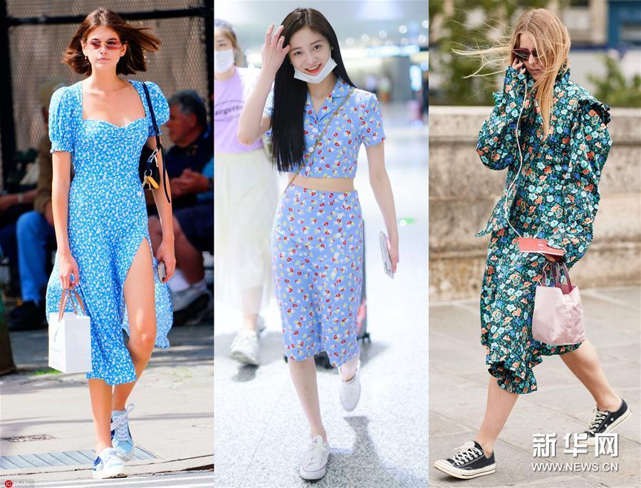 美裙搭配帆布鞋?夏天必粉的潮流搭配