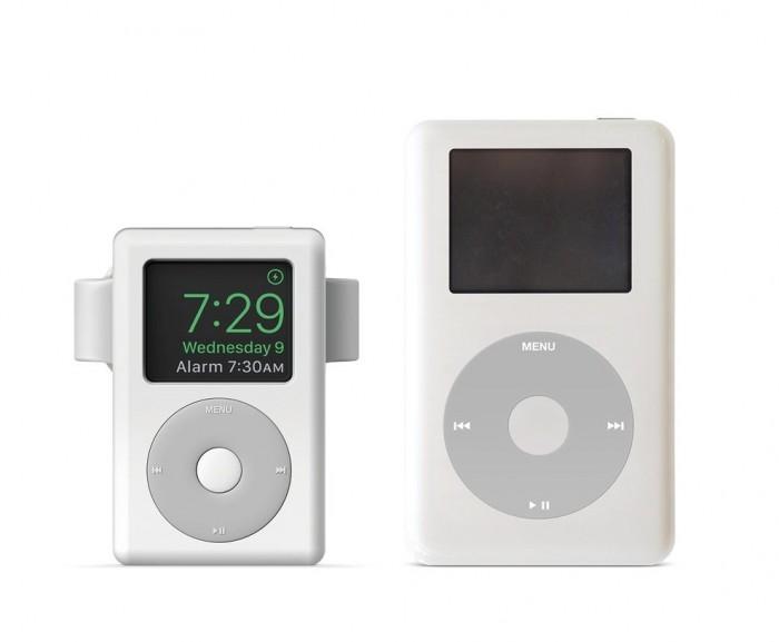 这款充电支架能将Apple Watch伪装成iPod