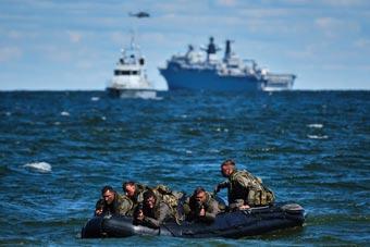 北約在俄家門口動作頻頻 17艘軍艦3000兵力練登陸
