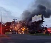美国一烟花店失火