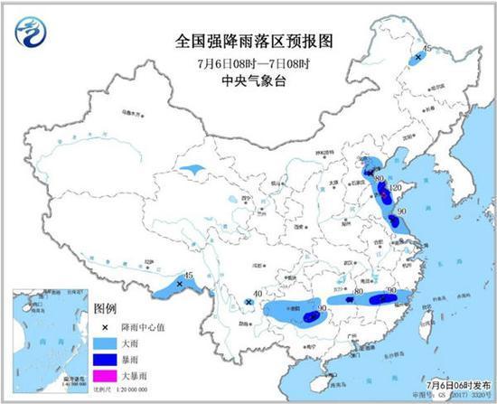 京津冀鲁等地有大到暴雨 局地大暴雨