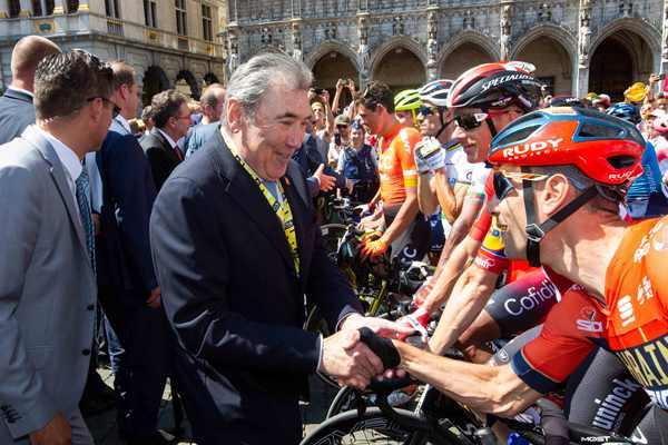 比利時國王與首相出席第106屆環法自行車賽開幕式