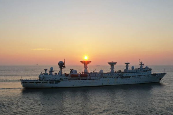 远望3号船安全驶入长江入海口