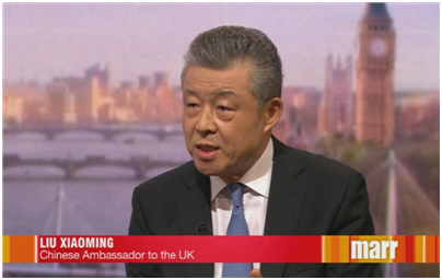 """中国驻英大使批""""末代港督""""彭定康:他身体进入21世纪,脑袋仍留在旧殖民时代"""