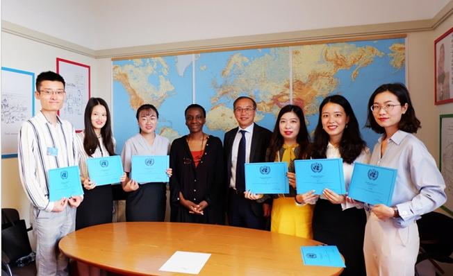 西安外国语大学高翻学院口译专业研究生赴联合国日内瓦办事处实习