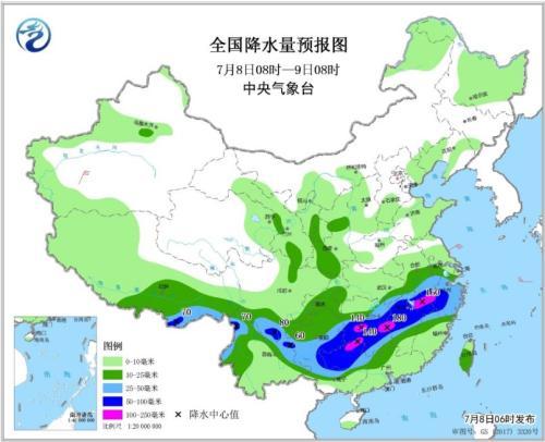 南方地区迎降水天气 江南大部地区有大到暴雨