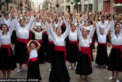 西班牙近五千人共舞弗拉明戈 欲打破世界纪录