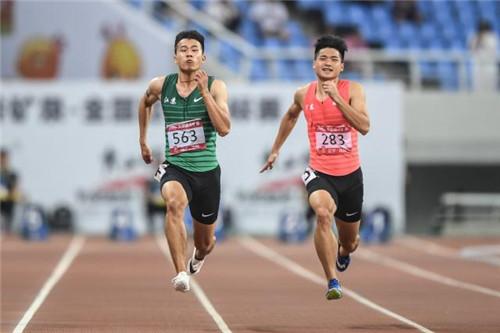 全国田径锦标赛 杨洋百米百分之一秒优势夺冠