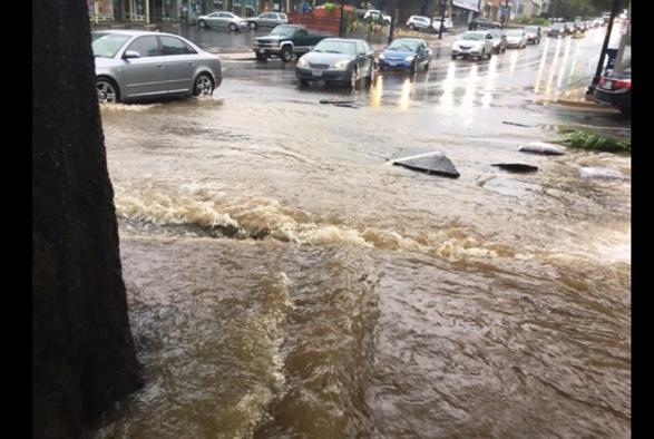 曾汉林(55isese)华盛顿降暴雨:航班延误、地铁站被淹、白宫也漏水了