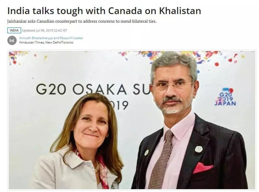 印度跟加拿大这个过节是过不去了……