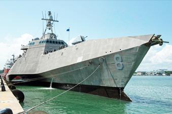 美军科幻三体舰再赴新加坡常驻 此前故障频发