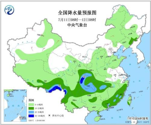 南方降水有所减弱 华北黄淮东北地区多雷阵雨天气