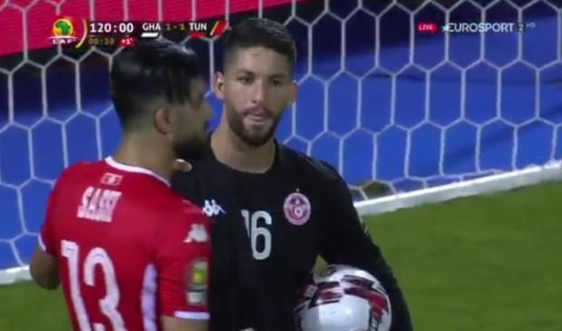 非洲杯闹剧:点球大战前 突尼斯门将拒绝下场