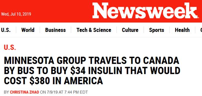 因太贵,美糖尿病患者乘大巴去加拿大买胰岛素