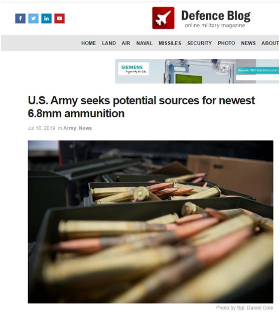 美國陸軍要搞大事?未來步槍要創新6.8毫米彈藥