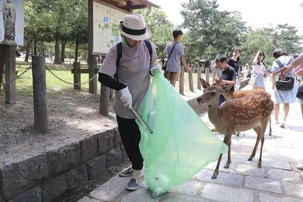 日本奈良鹿接連死亡 解剖發現胃里的塑料袋擰成硬塊