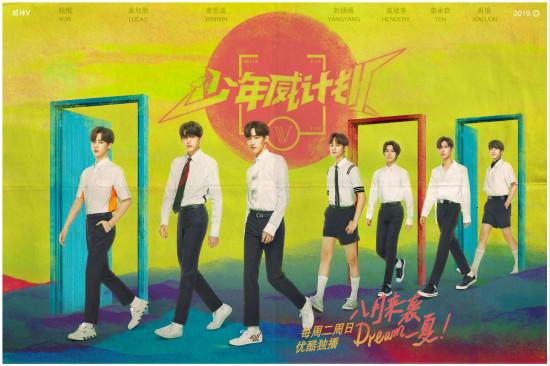 """威神V首档团综《少年威计划》8月播出 """"宝藏男团""""海报公开引热议"""