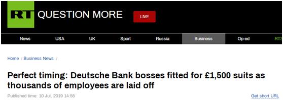 """裁縫拿著西裝包從德意志銀行走出,誤被當成""""下崗職員""""在網上流傳"""