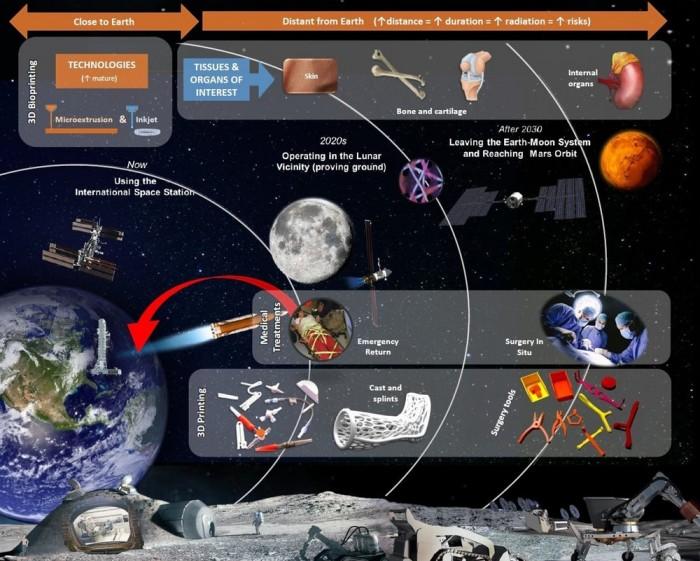 宇航员太空中受伤咋办?3D打印技术可创造皮肤和骨骼
