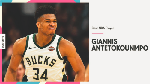 字母哥当选ESPY年度最佳NBA球员 今年已获3项大奖