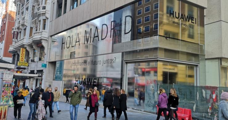 华为在马德里开设其海外规模最大的旗舰店