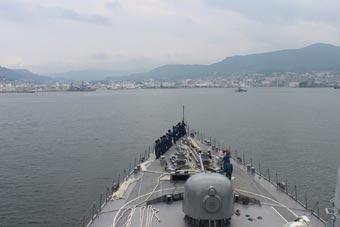 在亚太活跃两个多月后 日本准航母终于返回港口
