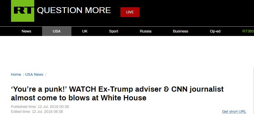 eddycity(十分主播 礼物)特朗普前助理和记者在白宫前大吵:你不是记者,你是废物!