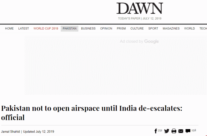 www.ganseea.cn(南财水仙)巴民航局局长:印度先将战机调离边境,巴才会对印敞开领空