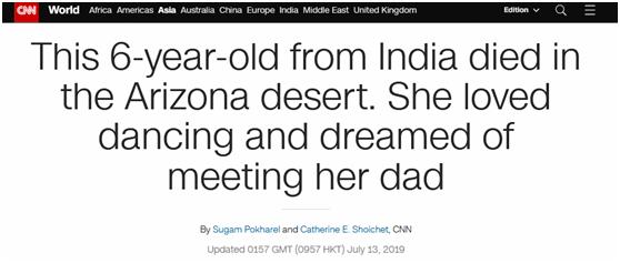 顽皮公主的黑道王子(穿越西元3000后)悲惨剧!6岁女孩被逼穿过酷热区域进美国,因中暑死在沙漠里