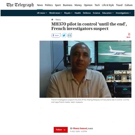 """淘宝网卖地(超激人气委员长)外媒:马航MH370飞行员或许操控飞机""""到最后"""",置疑谋杀兼自杀"""