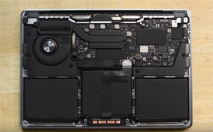 u盘启动工具装win7,入门级MacBook Pro拆解:SSD焊死 电池容量提升