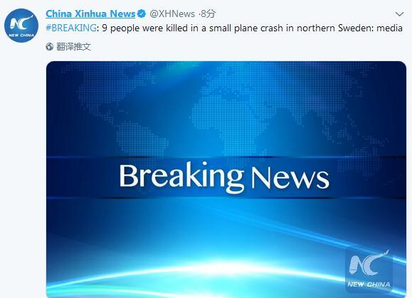 突发!瑞典一架飞机坠毁具体事件经过是什么?详情始末曝光9人全部遇难