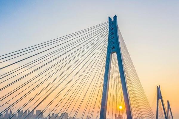 武汉二七长江大桥壮美如画