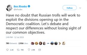"""230club(5.4dps排行)美前高官声称""""俄罗斯巨魔""""扰乱美国,却被讽""""智力有问题?"""""""