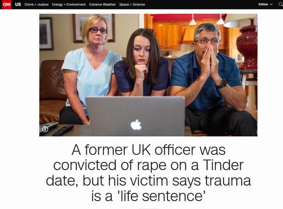 """繁体字个人说明(亘小圆)英国前差人涉强奸被判15年,受害者却说遭到的伤口好像""""无期"""""""