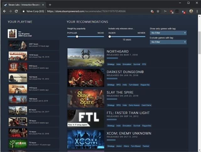 SteamLabs新功能可扫描游戏时间并提供建议