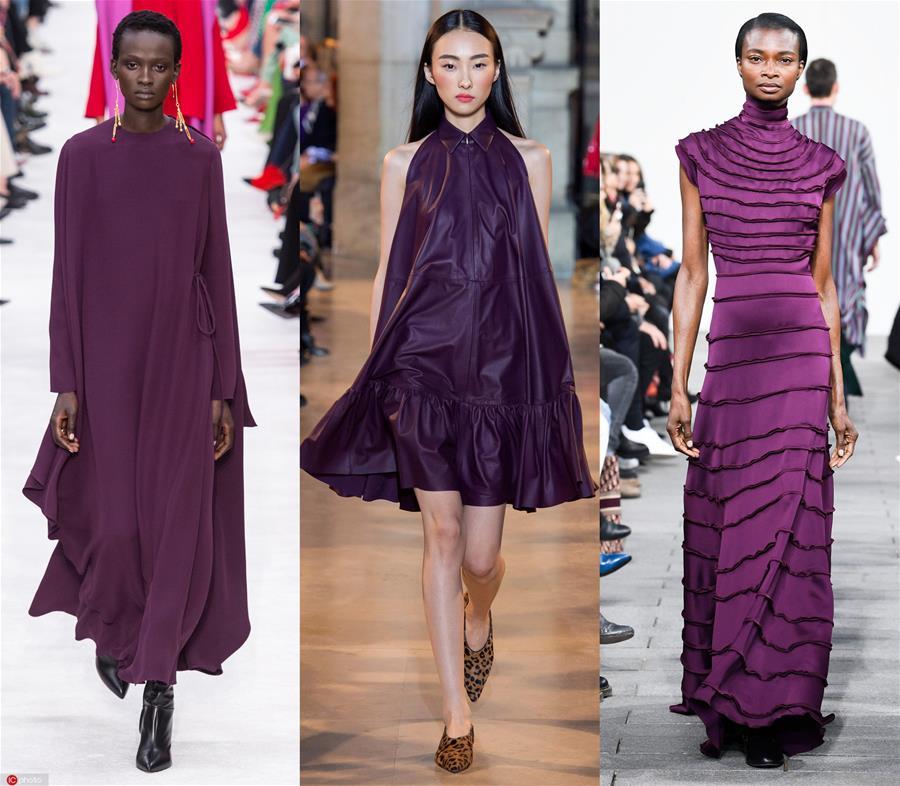 2019秋冬流行趋势盘点:Tyrian Purple泰尔紫