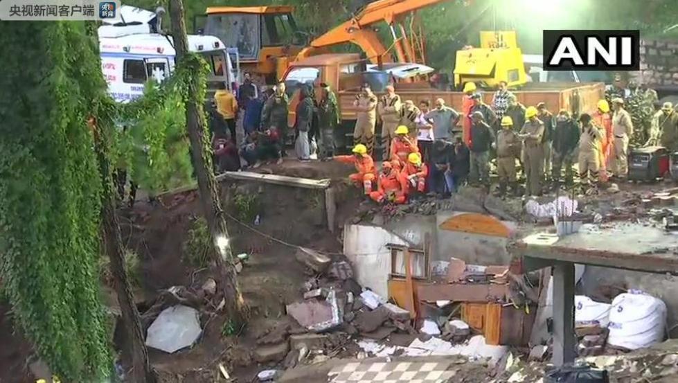 印度北部发生一起建筑物倒塌事故 至少10人死亡
