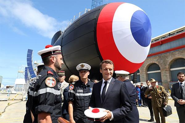"""法国新一代攻击型核潜艇下水:噪音小如""""虾"""",战力大幅提升"""