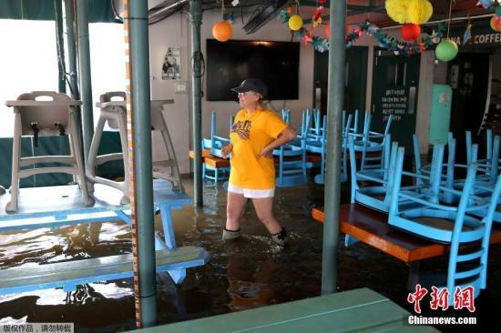 """热带风暴""""巴里""""北上 美国中南部面临洪涝威胁"""