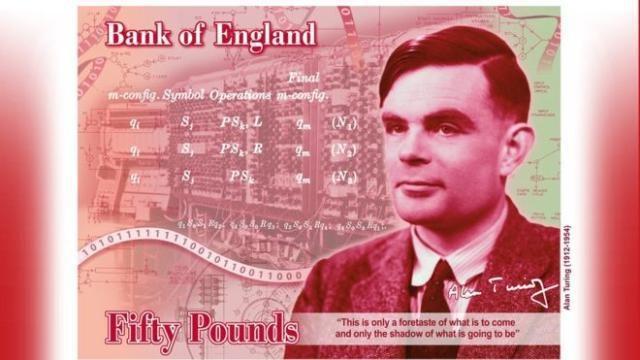 """""""AI之父""""艾伦·图灵取代瓦特登上英国50英镑新钞"""