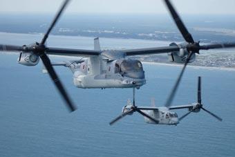 有国不能回:日购V-22继续在美编队训练