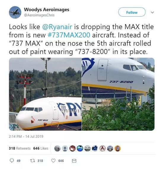 """张丹丹被谁牵走了(心语 何故奇)波音737MAX改名了?网友:不如改成""""波音737不是MAX"""""""