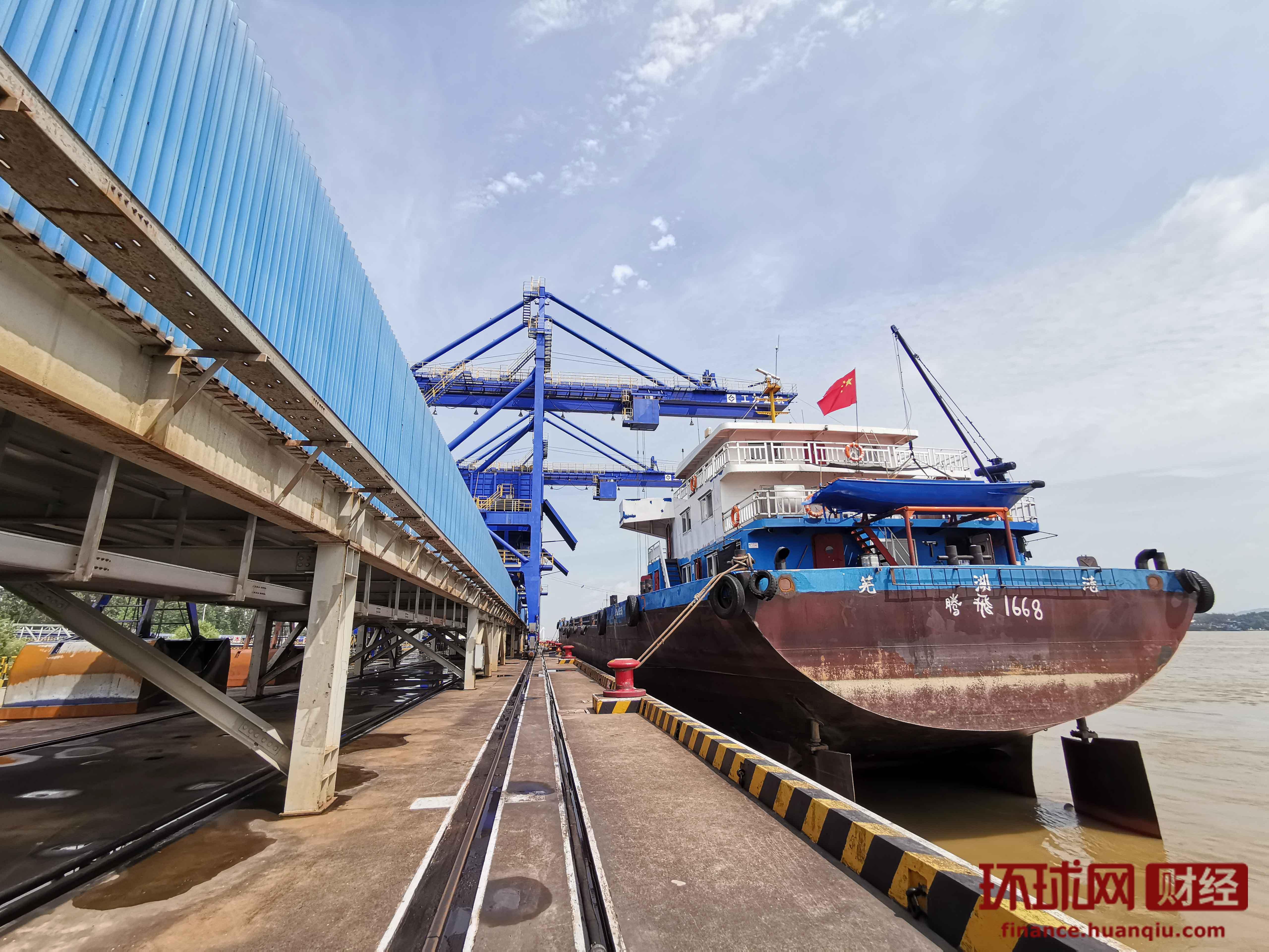 黄石新港加快转型升级 打造公路、铁路、水路多式联运