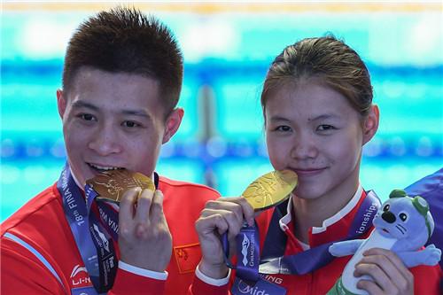 """游泳世锦赛中国""""梦之队""""混合团体夺金刷新历史"""