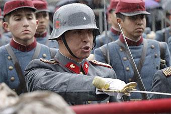 """比德军还""""德味"""" 智利军队宣誓展示普鲁士风貌"""