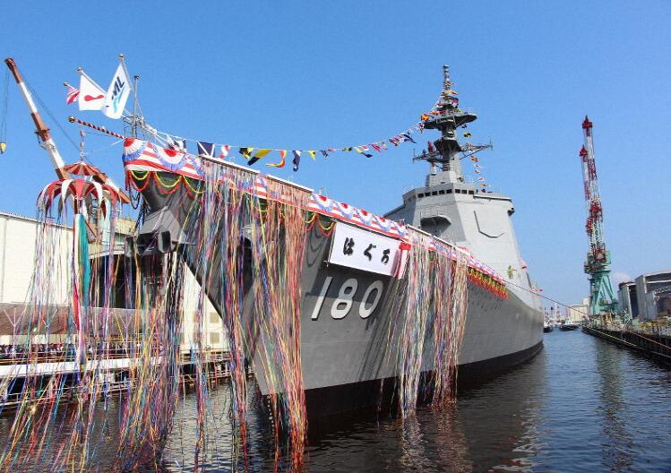 """日本也在抓紧""""下饺子"""" 第2艘""""万吨大驱""""下水"""