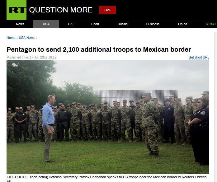特朗普与民主党激烈交锋,美国防部宣布向边境增派2100名士兵