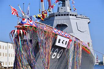 日本最新驱逐舰下水 以二战时万吨重巡洋舰为名